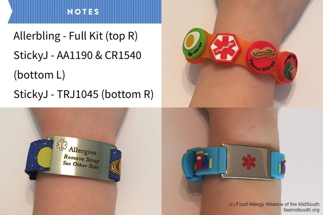 Review Medical Alert Bracelets Faam Food Allergy Alliance Of The Midsouth